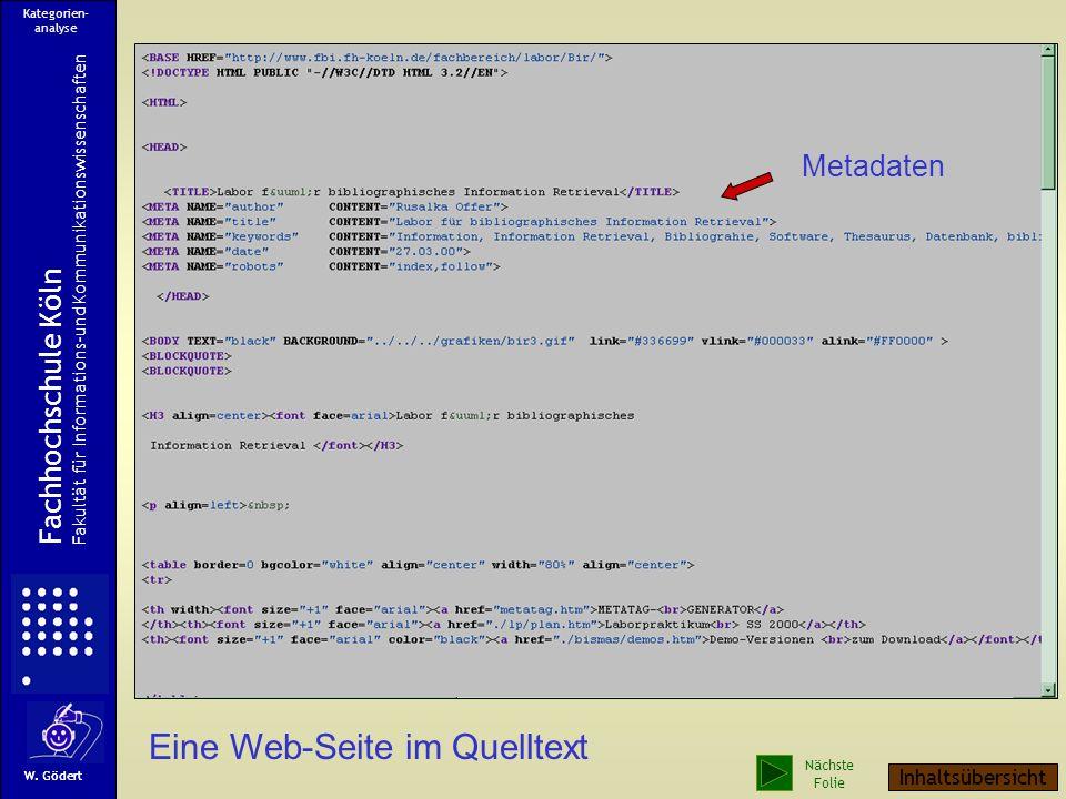 Eine Web-Seite im Quelltext