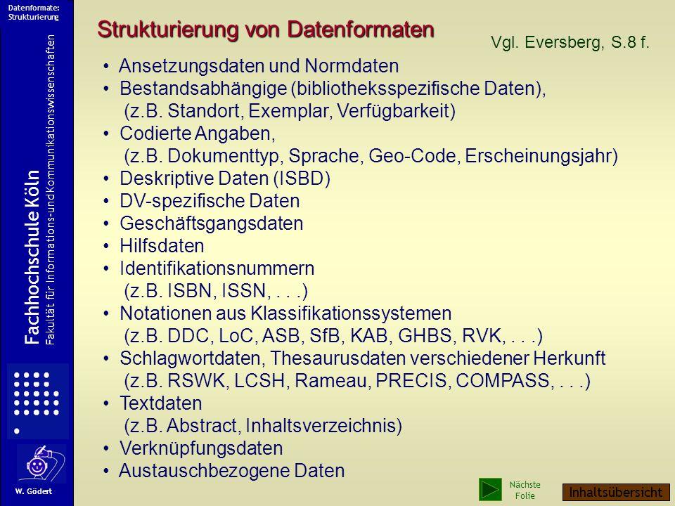 Datenformate: Strukturierung