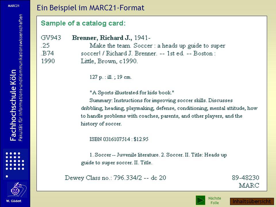 Ein Beispiel im MARC21-Format