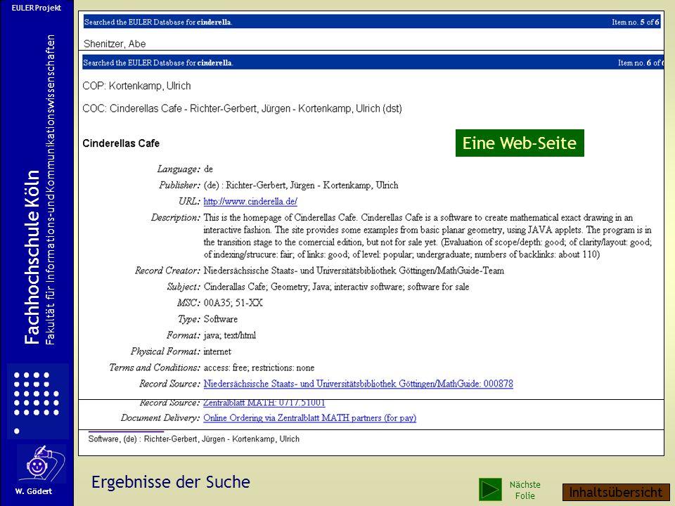 Fachhochschule Köln Ein Zeitschriftenaufsatz Eine Web-Seite Ein Buch