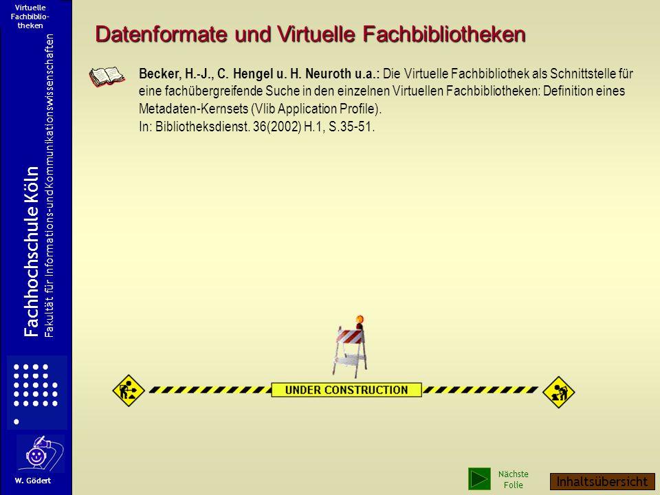 Virtuelle Fachbiblio-theken