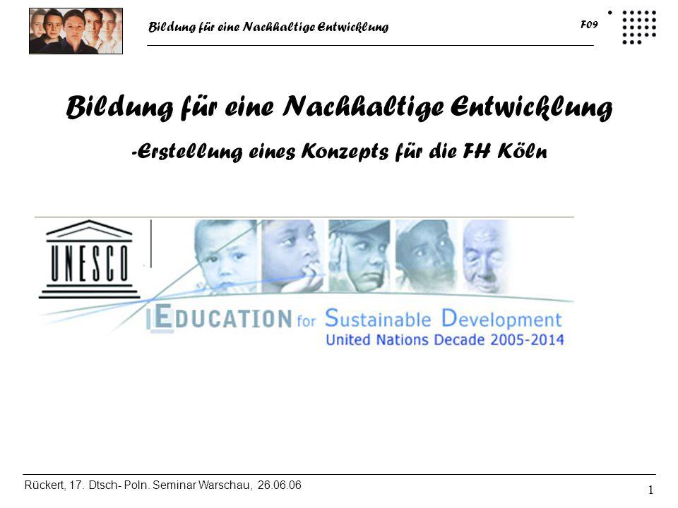 Bildung für eine Nachhaltige Entwicklung