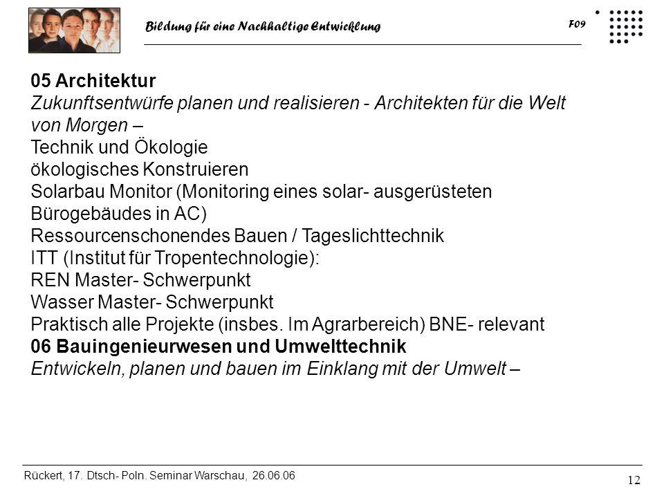 05 Architektur Zukunftsentwürfe planen und realisieren - Architekten für die Welt von Morgen – Technik und Ökologie.