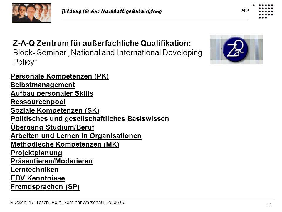 Z-A-Q Zentrum für außerfachliche Qualifikation: