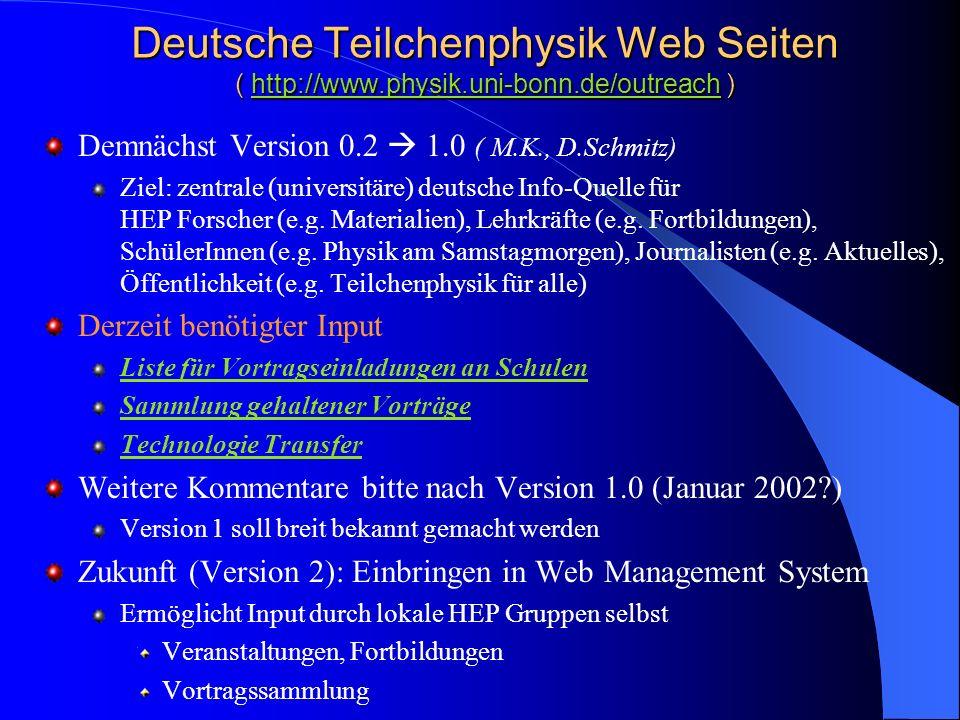 Deutsche Teilchenphysik Web Seiten ( http://www. physik. uni-bonn