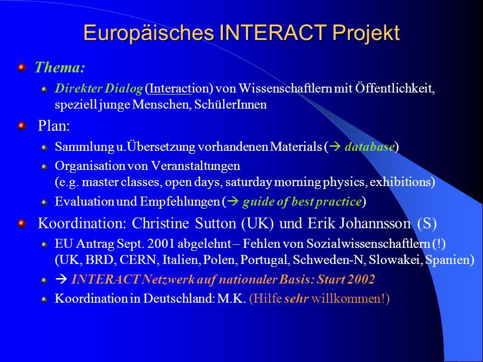 Europäisches INTERACT Projekt
