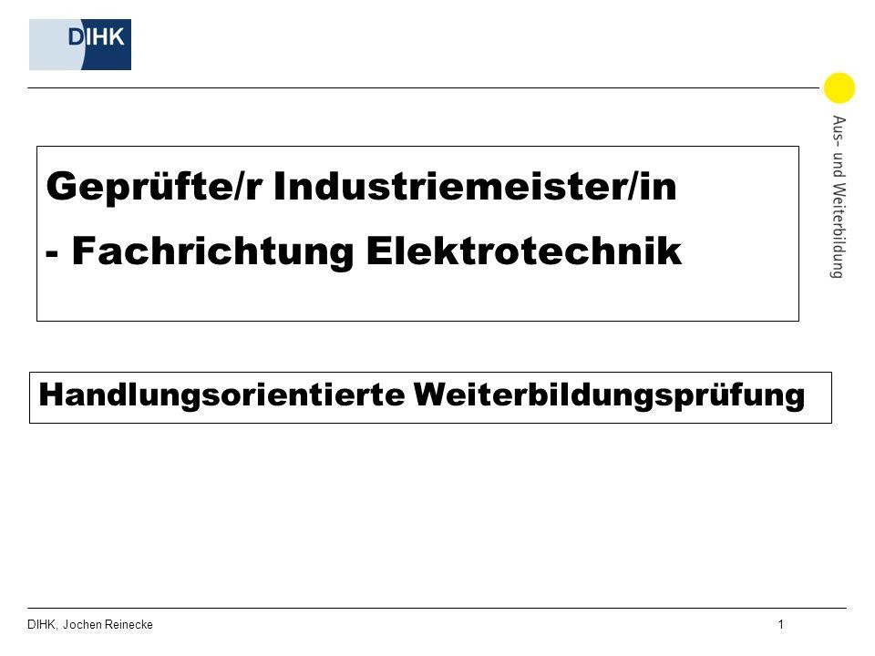 Geprüfte/r Industriemeister/in - Fachrichtung Elektrotechnik
