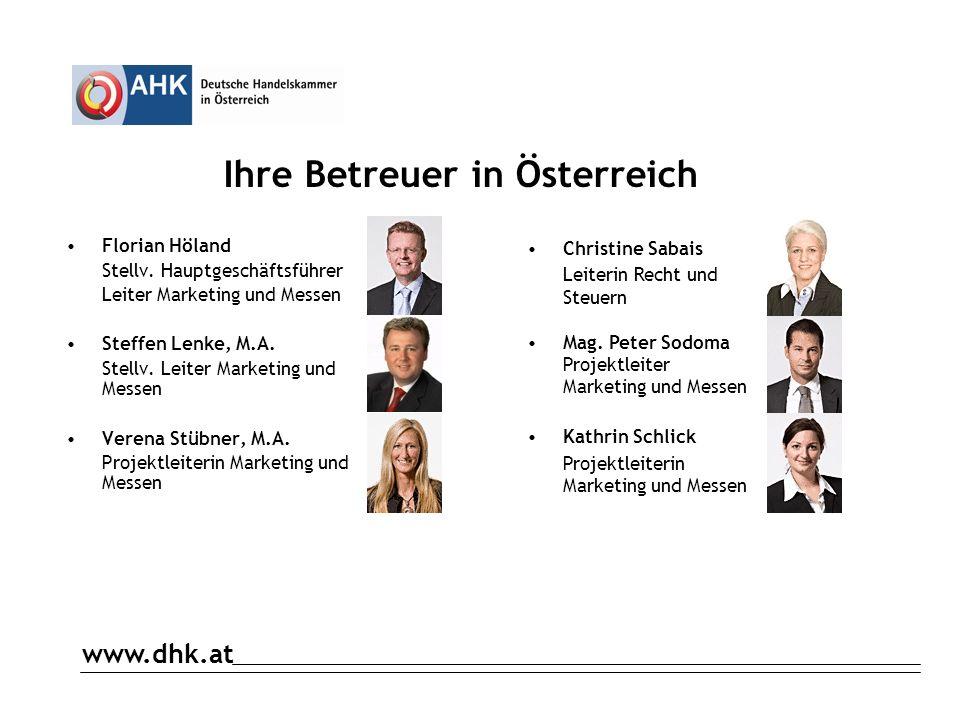 Ihre Betreuer in Österreich