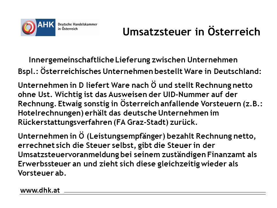 Umsatzsteuer in Österreich