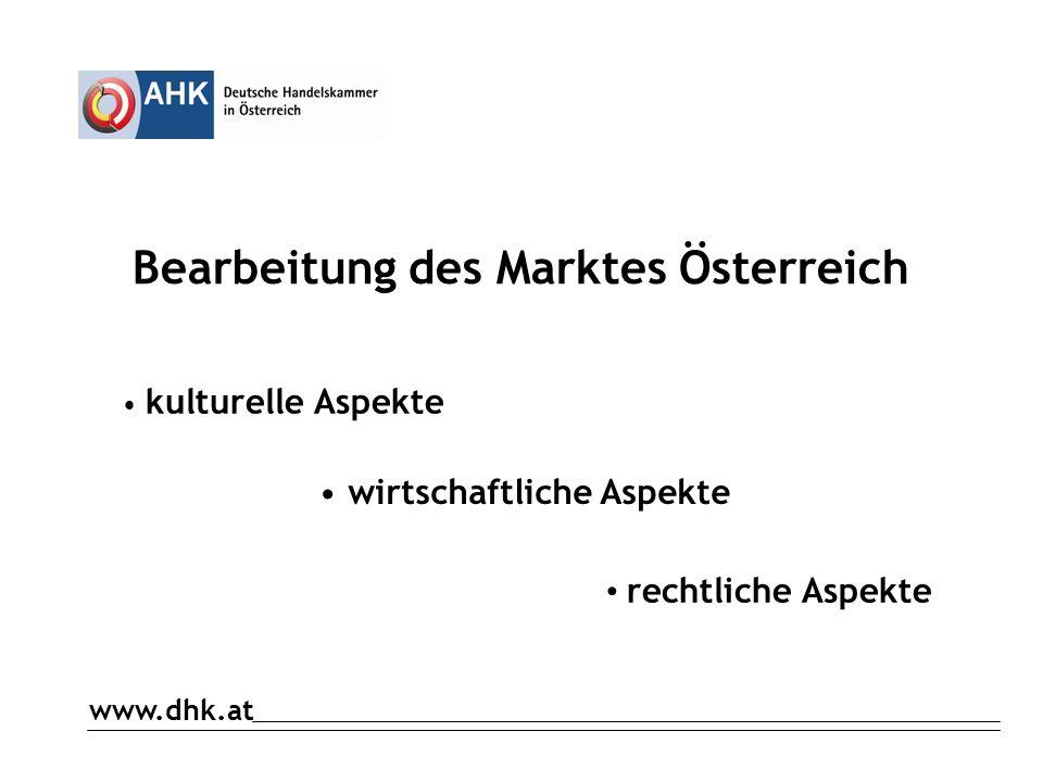Bearbeitung des Marktes Österreich