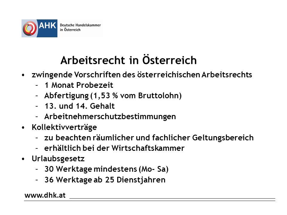 Arbeitsrecht in Österreich