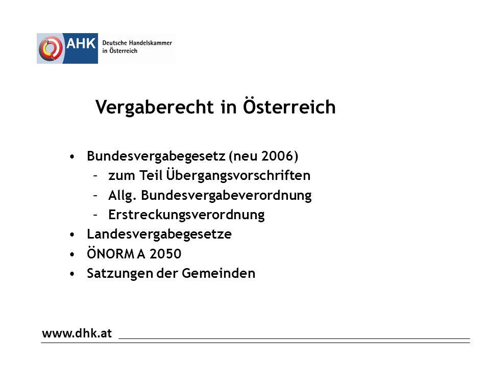 Vergaberecht in Österreich