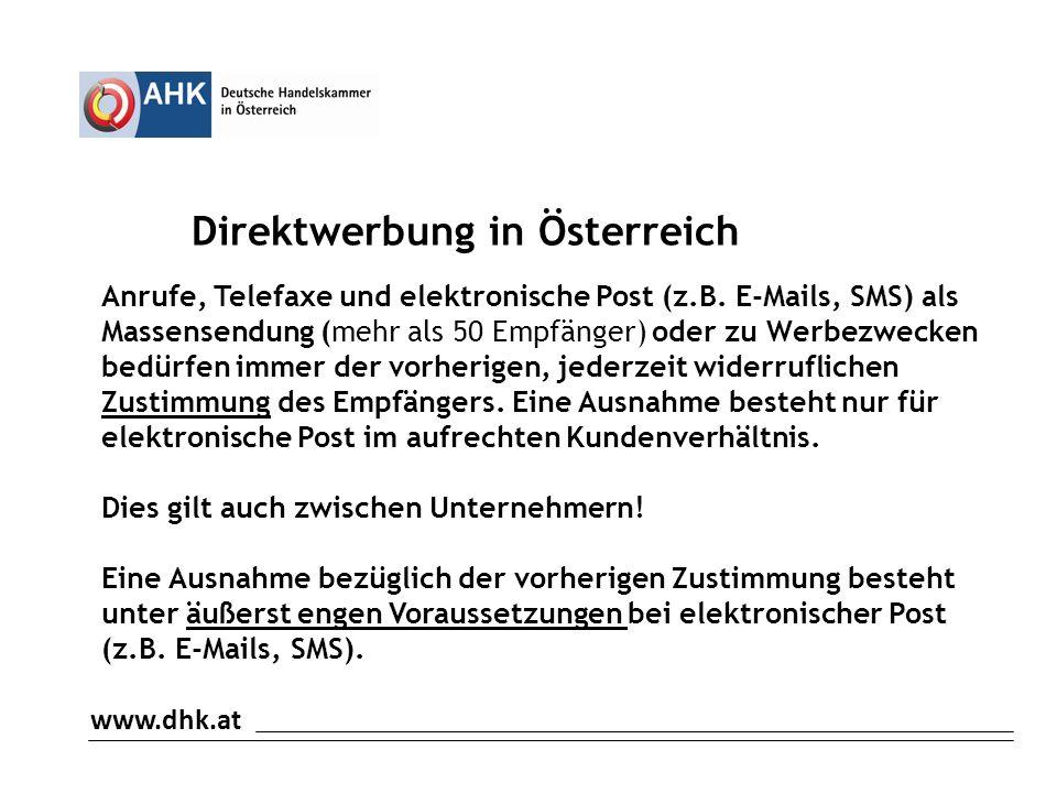 Direktwerbung in Österreich