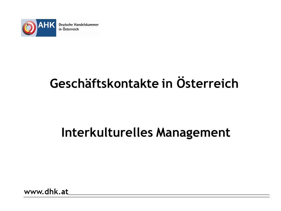 Geschäftskontakte in Österreich Interkulturelles Management