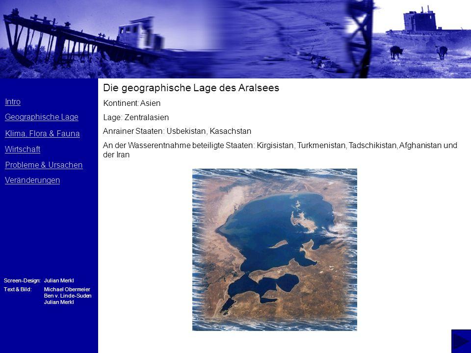 Die geographische Lage des Aralsees