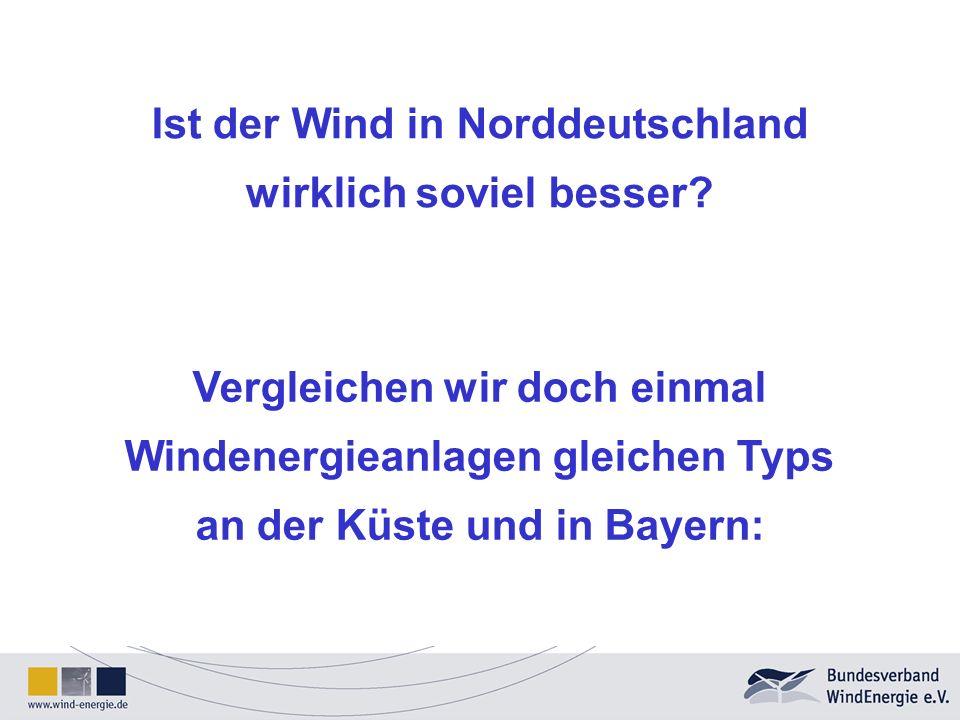 Ist der Wind in Norddeutschland wirklich soviel besser