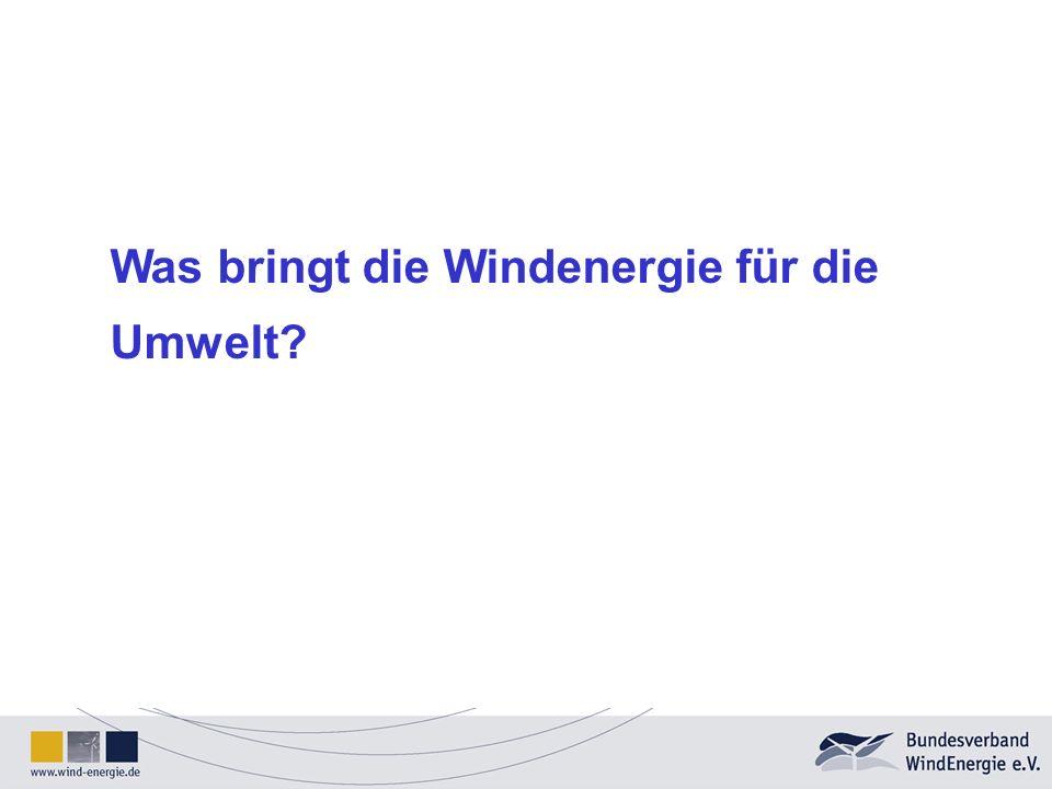 Was bringt die Windenergie für die Umwelt
