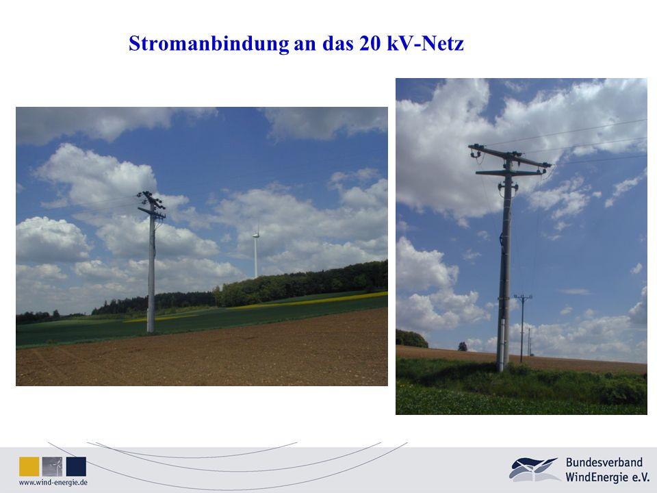 Stromanbindung an das 20 kV-Netz