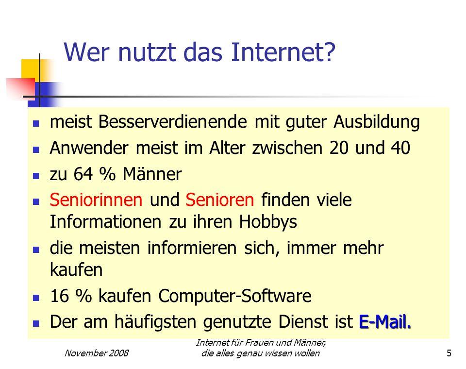 Internet für Frauen und Männer, die alles genau wissen wollen