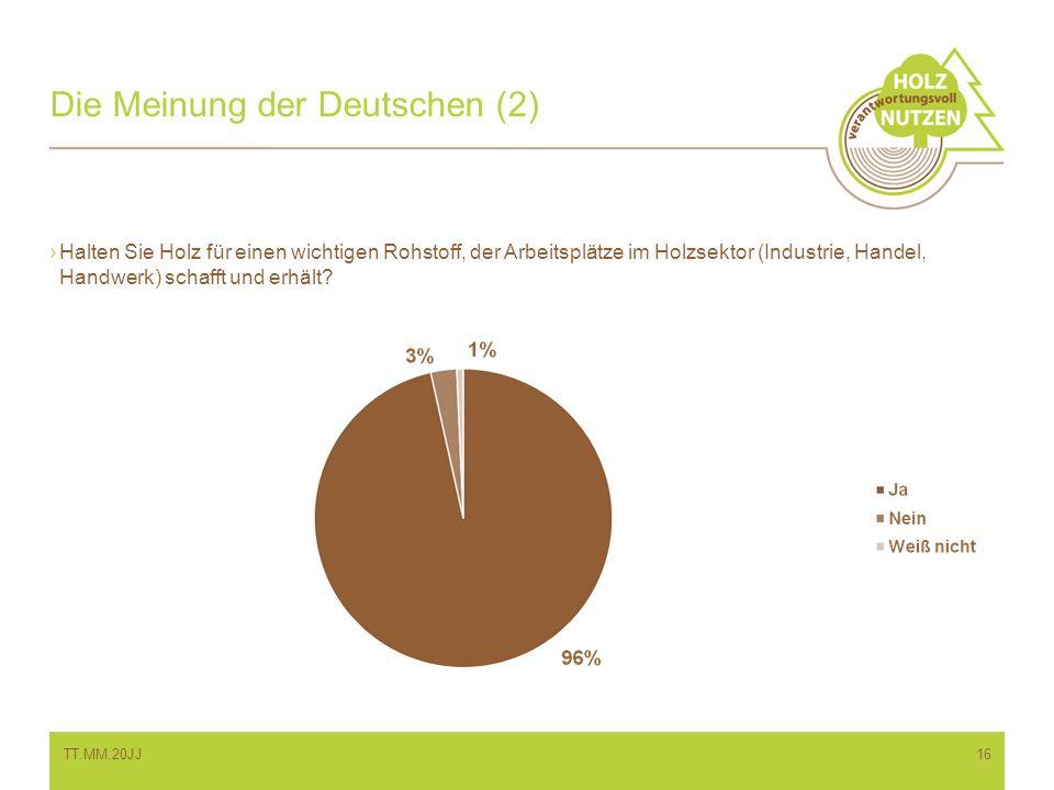 Die Meinung der Deutschen (2)