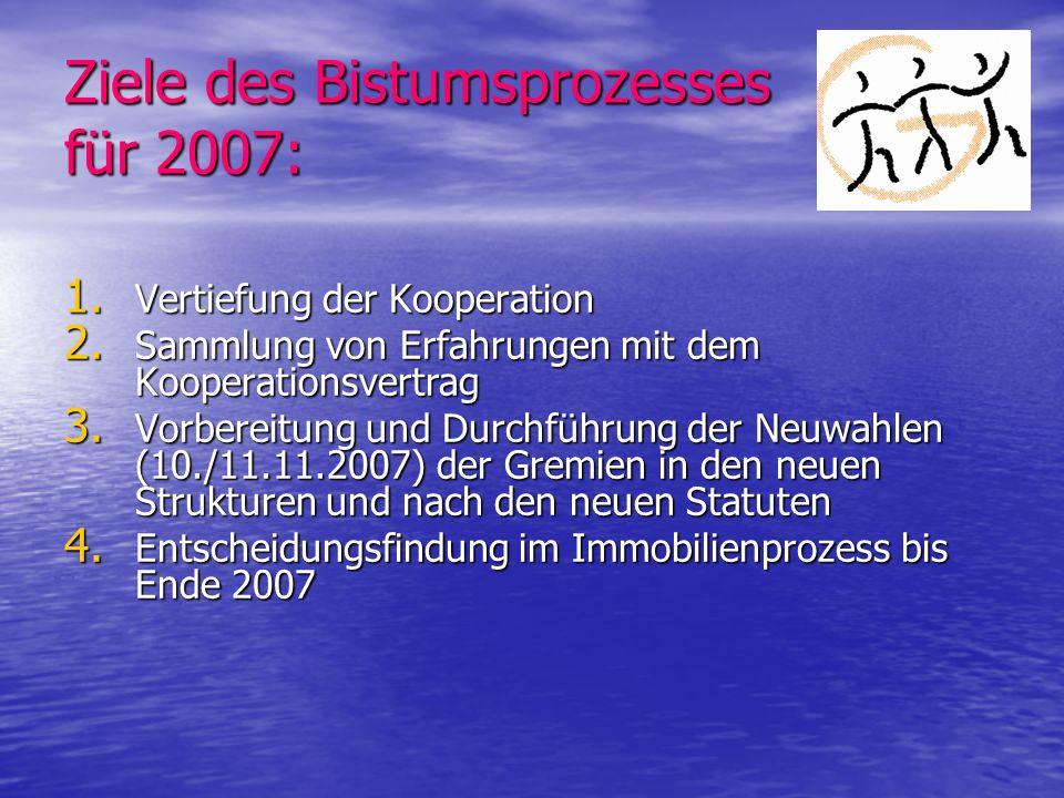 Ziele des Bistumsprozesses für 2007: