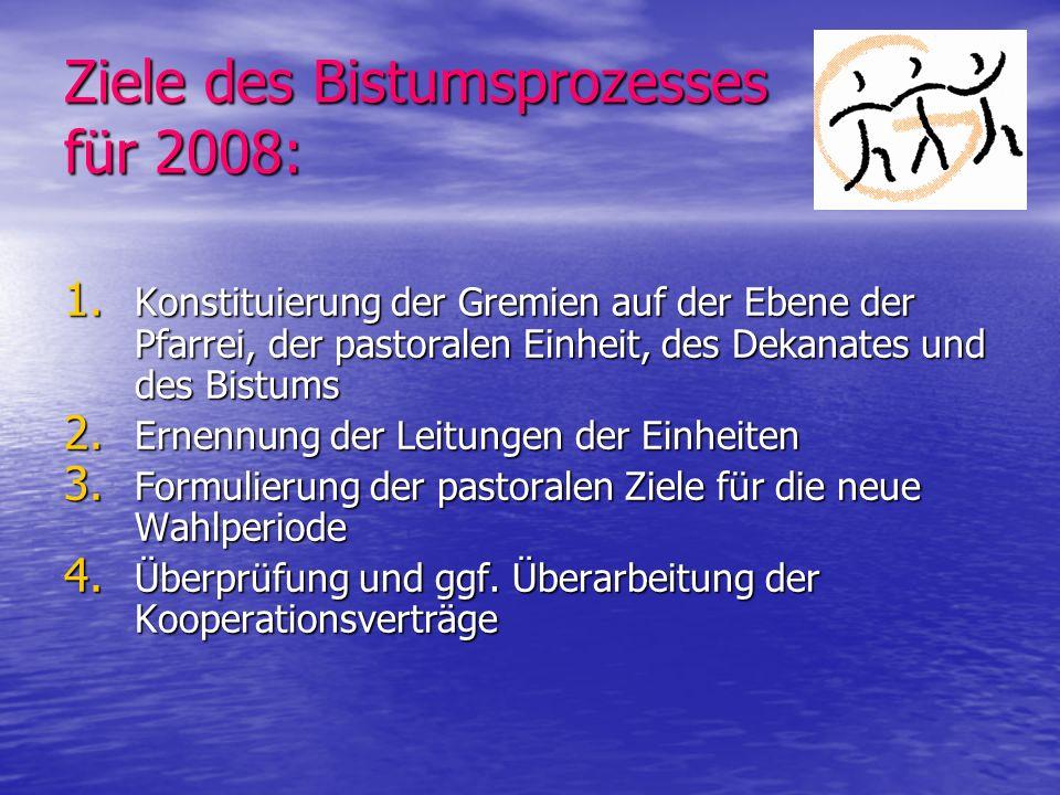 Ziele des Bistumsprozesses für 2008: