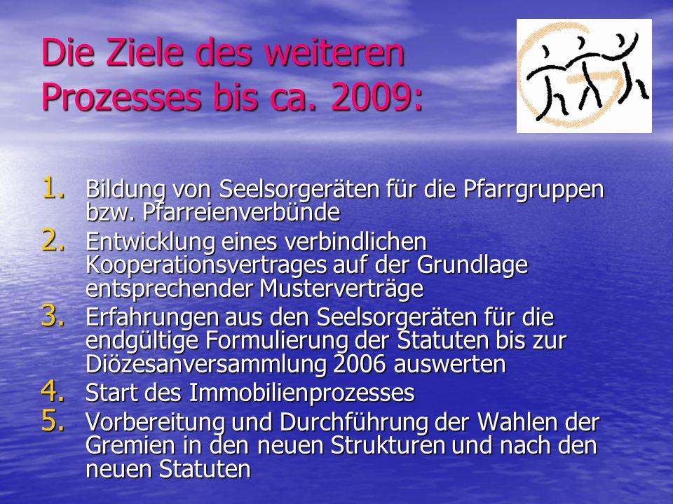Die Ziele des weiteren Prozesses bis ca. 2009: