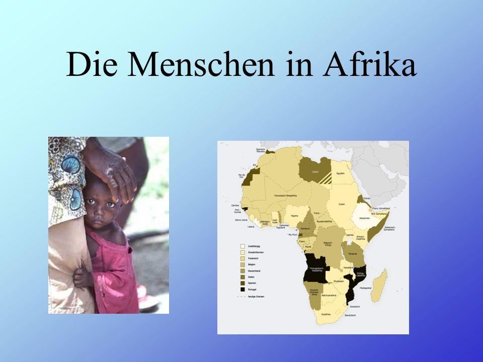 Die Menschen in Afrika