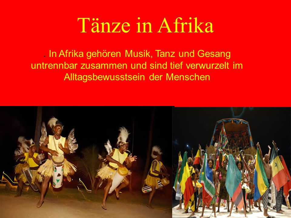 Tänze in Afrika .
