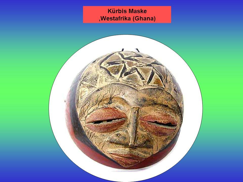 Kürbis Maske ,Westafrika (Ghana)