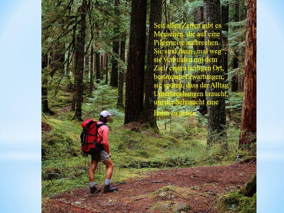 Seit allen Zeiten gibt es Menschen, die auf eine Pilgerreise aufbrechen.