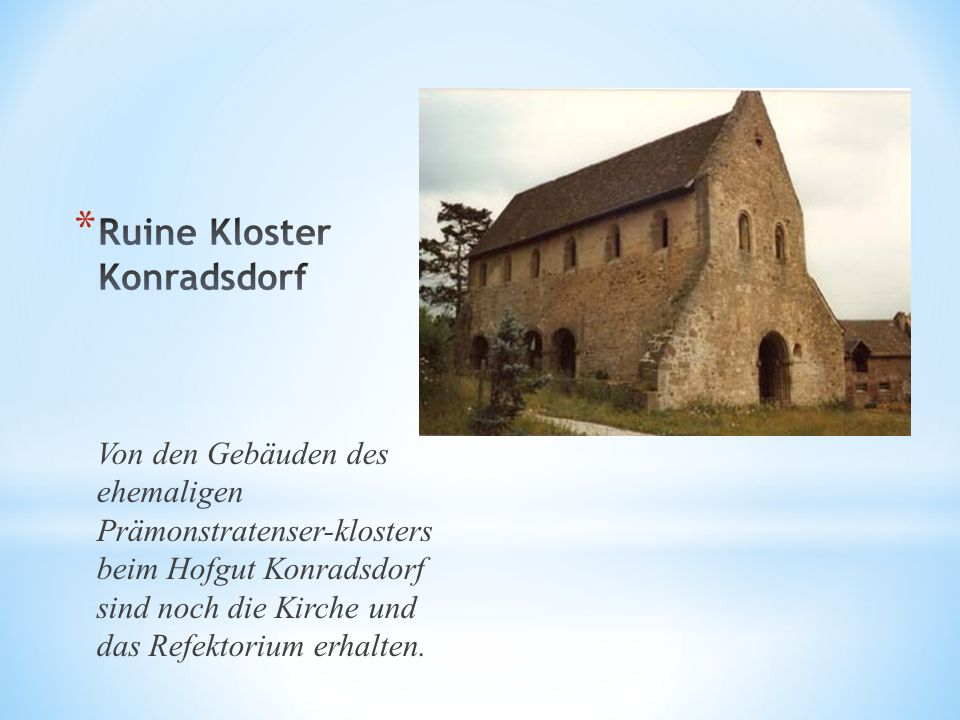 Ruine Kloster Konradsdorf