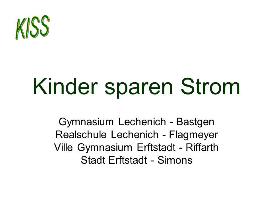 Kinder sparen Strom Gymnasium Lechenich - Bastgen