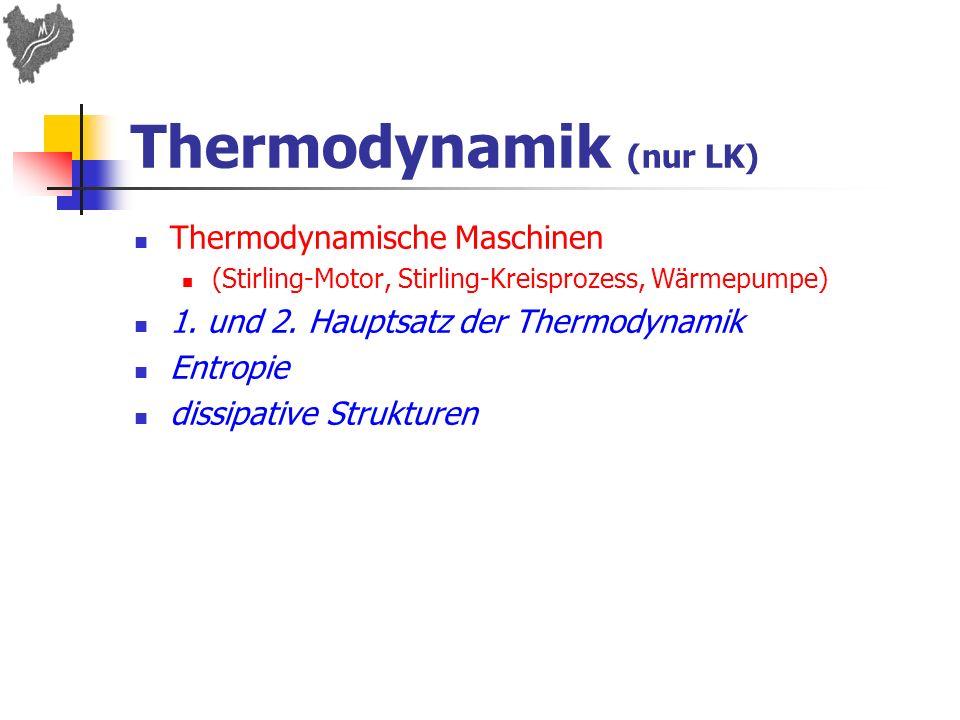 Thermodynamik (nur LK)