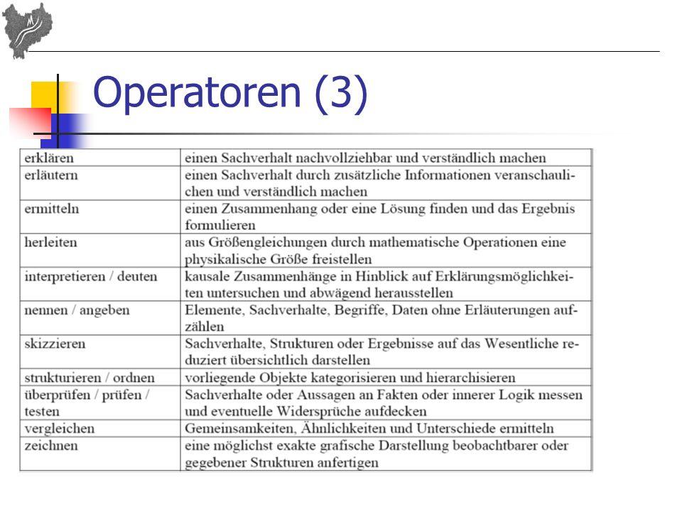 Operatoren (3)
