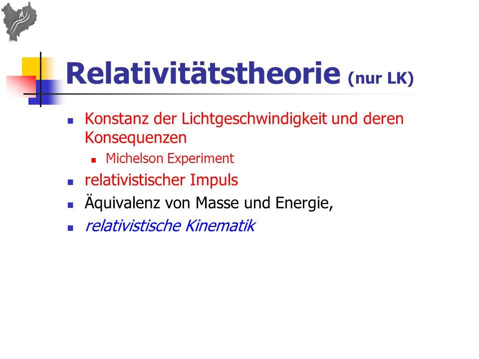 Relativitätstheorie (nur LK)