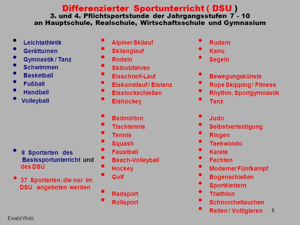 Differenzierter Sportunterricht ( DSU ) 3. und 4