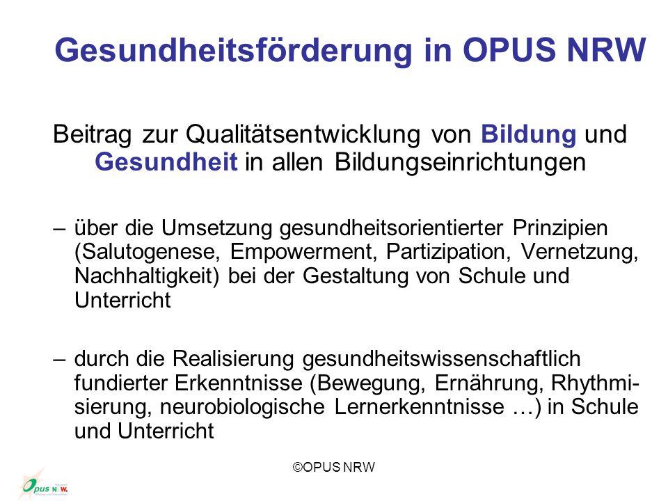 Gesundheitsförderung in OPUS NRW