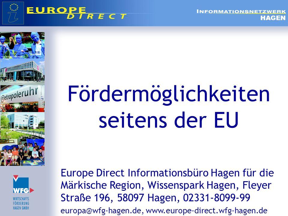 Fördermöglichkeiten seitens der EU