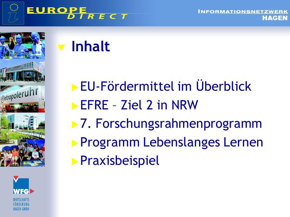 EU-Fördermittel im Überblick EFRE – Ziel 2 in NRW