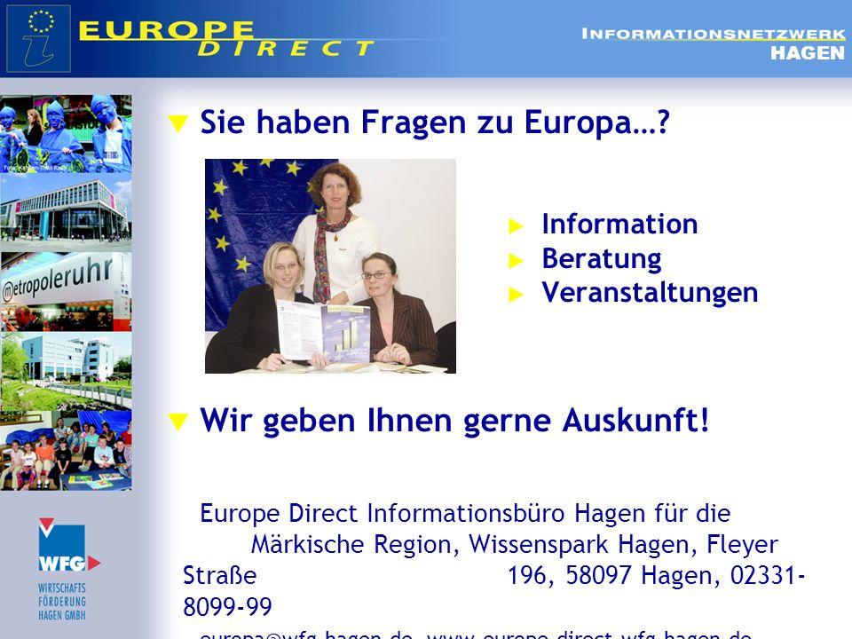 Sie haben Fragen zu Europa…