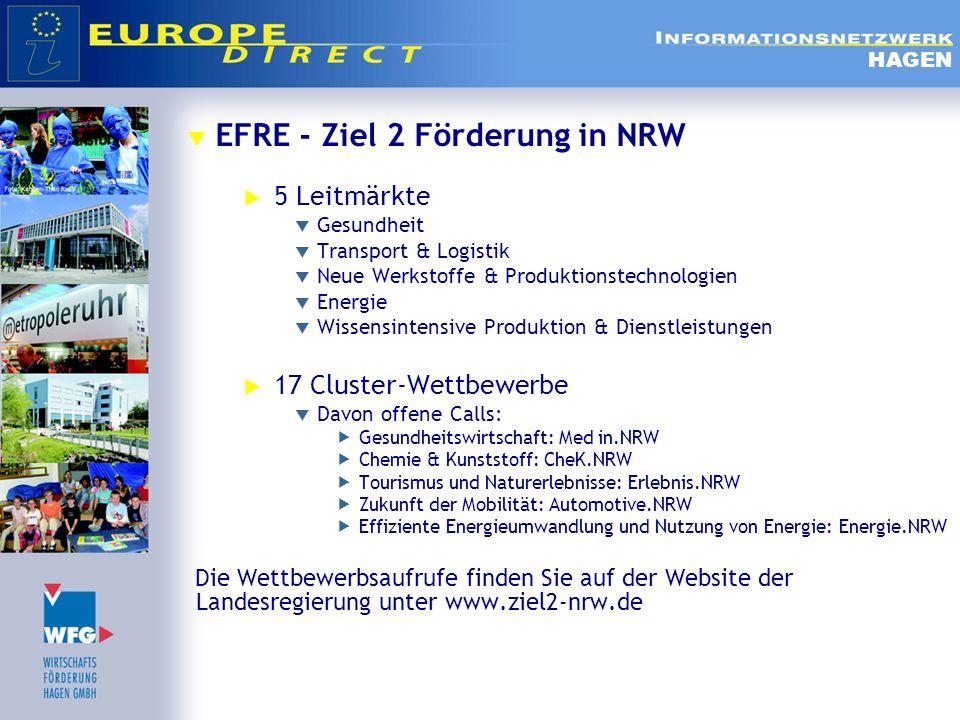 EFRE - Ziel 2 Förderung in NRW 5 Leitmärkte