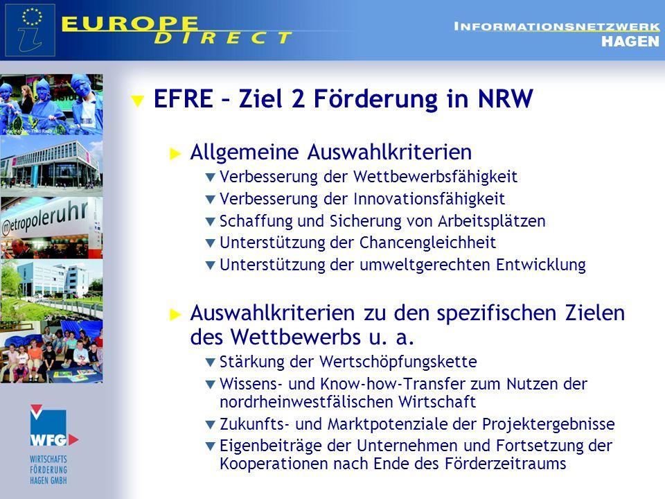 EFRE – Ziel 2 Förderung in NRW Allgemeine Auswahlkriterien