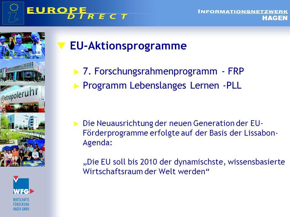 EU-Aktionsprogramme 7. Forschungsrahmenprogramm - FRP
