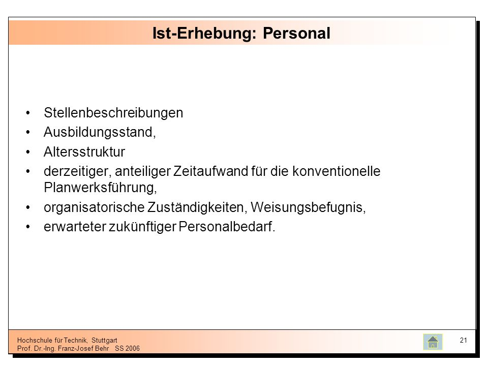 Ist-Erhebung: Personal