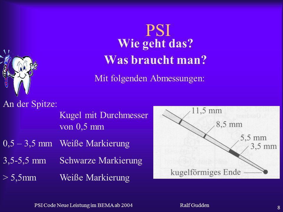 PSI Wie geht das Was braucht man Mit folgenden Abmessungen: