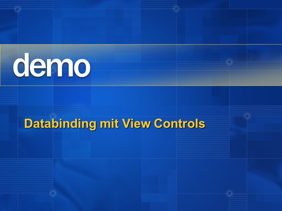 Databinding mit View Controls