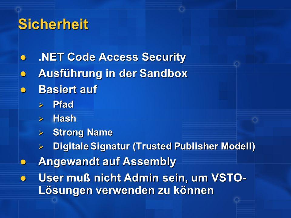 Sicherheit .NET Code Access Security Ausführung in der Sandbox