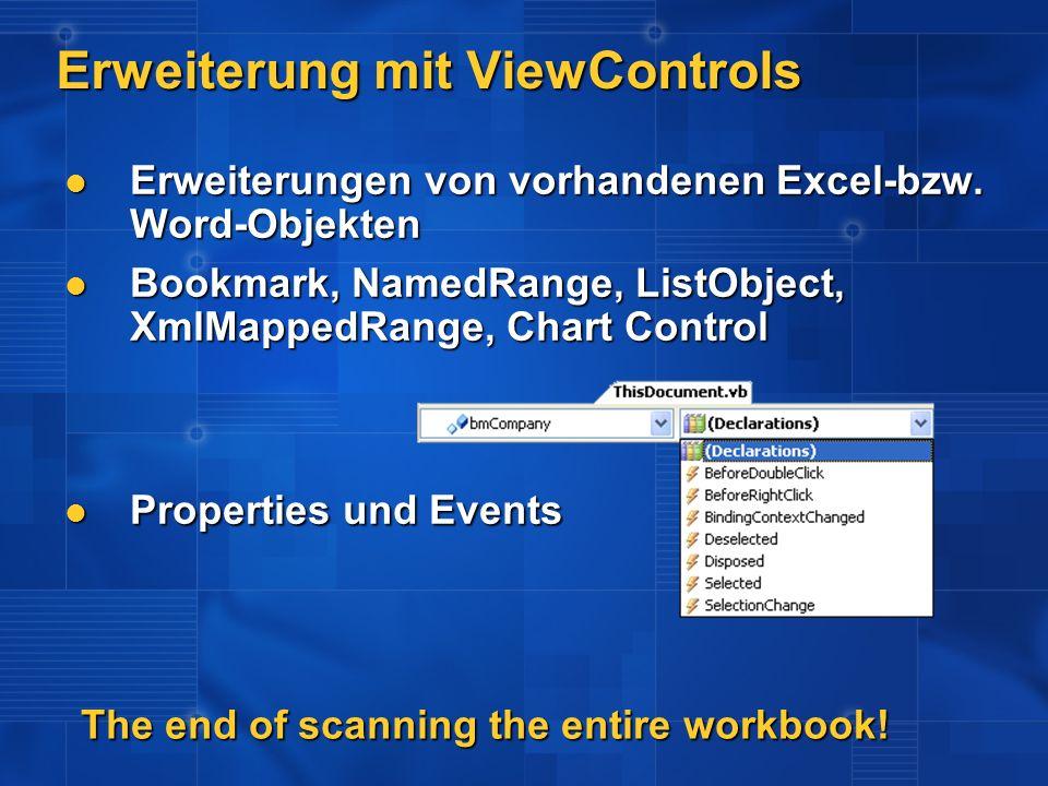 Erweiterung mit ViewControls