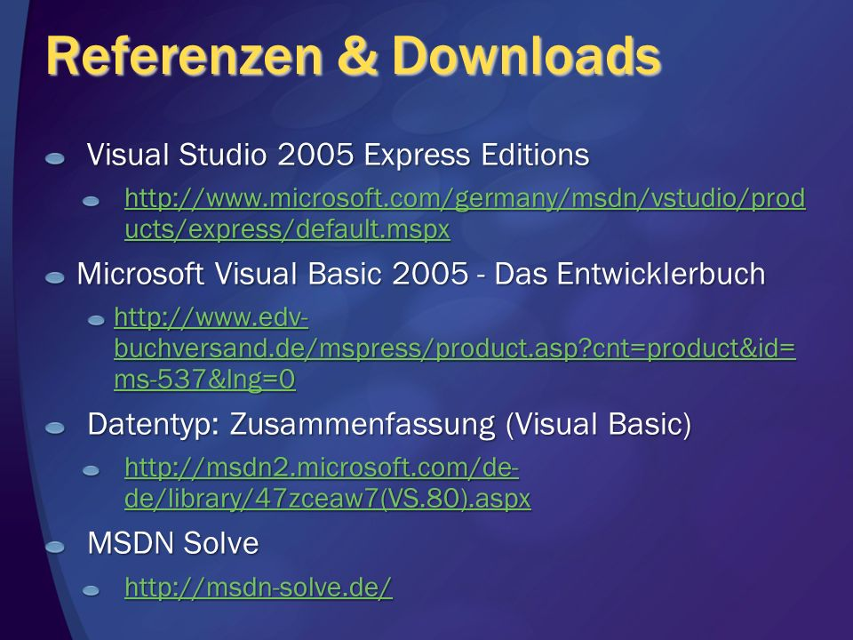 Referenzen & Downloads